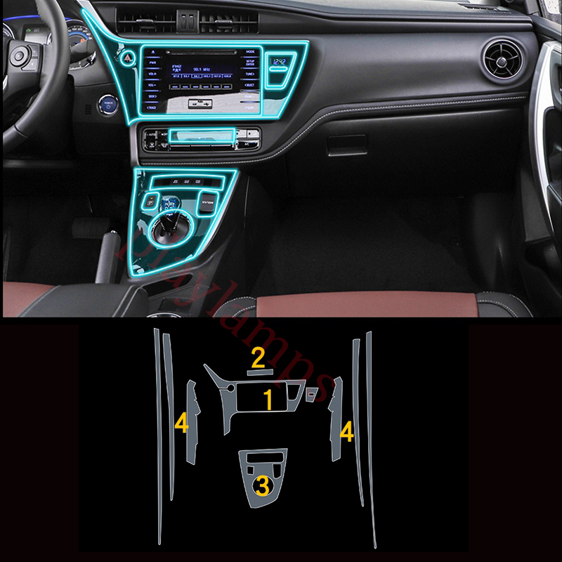 Przezroczyste naklejki wewnętrzne Toyota Corolla
